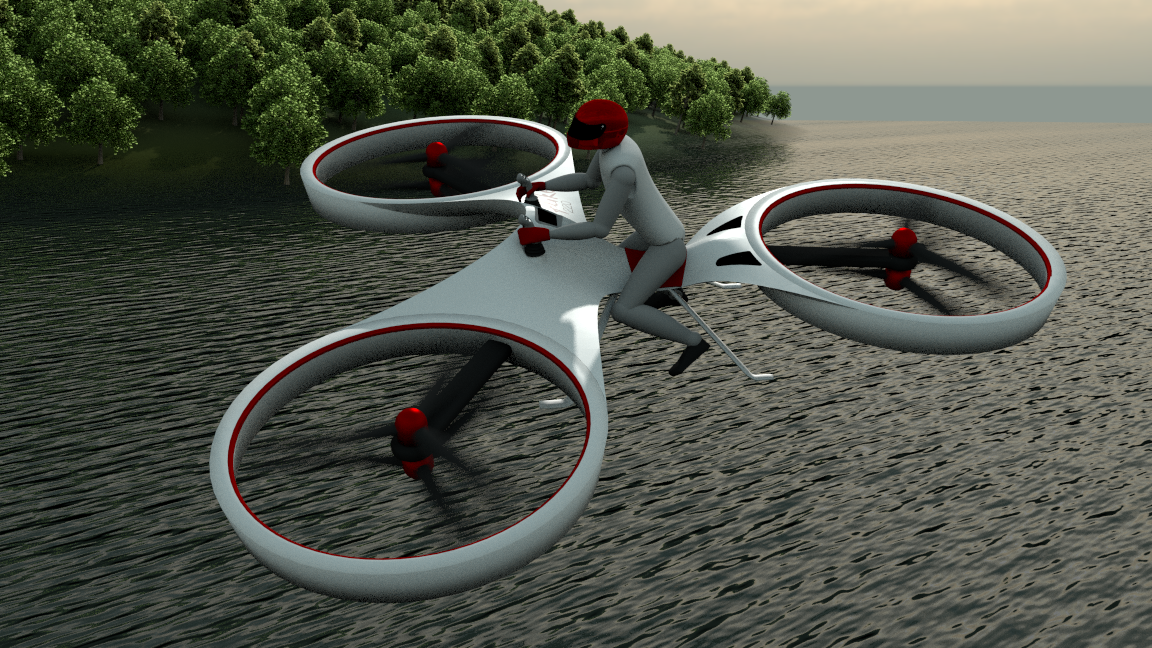 The flike flying bicycle for Chaise volante